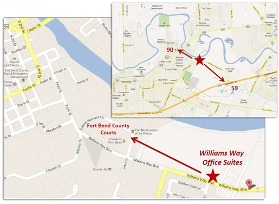 Directions to 2003 WILLIAMS WAY BLVD RICHMOND TEXAS 77469